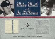 2001 Upper Deck Pinstripe Exclusives DiMaggio Memorabilia #CJ6 DiMag./Mantle Jsy/50