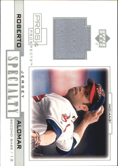 2001 Upper Deck Pros and Prospects Specialty Game Jersey #SRA Roberto Alomar