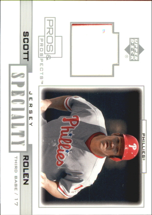 2001 Upper Deck Pros and Prospects Specialty Game Jersey #SSR Scott Rolen