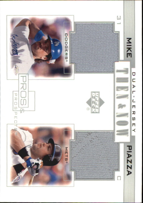 2001 Upper Deck Pros and Prospects Then and Now Game Jersey #TNMP Mike Piazza