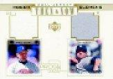 2001 Upper Deck Pros and Prospects Then and Now Game Jersey Gold #TNRC Roger Clemens