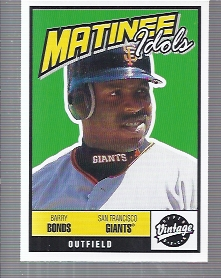 2001 Upper Deck Vintage Matinee Idols #M3 Barry Bonds