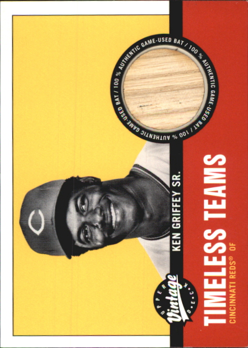 2001 Upper Deck Vintage Timeless Teams #CI2KG Ken Griffey Sr. Bat