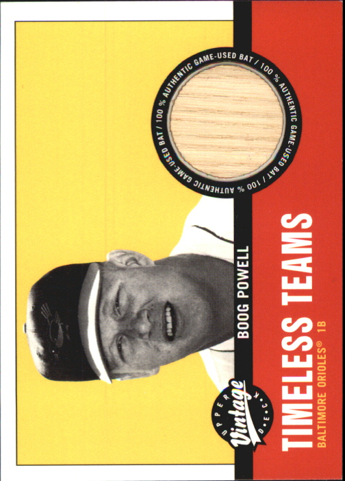 2001 Upper Deck Vintage Timeless Teams #BABP Boog Powell Bat