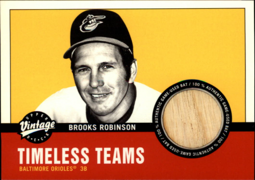 2001 Upper Deck Vintage Timeless Teams #BABR Brooks Robinson Bat