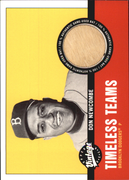 2001 Upper Deck Vintage Timeless Teams #BKDN Don Newcombe Bat