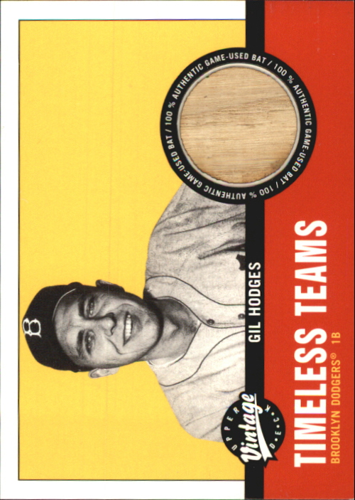 2001 Upper Deck Vintage Timeless Teams #BKGH Gil Hodges Bat