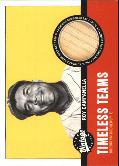 2001 Upper Deck Vintage Timeless Teams #BKRC Roy Campanella Bat