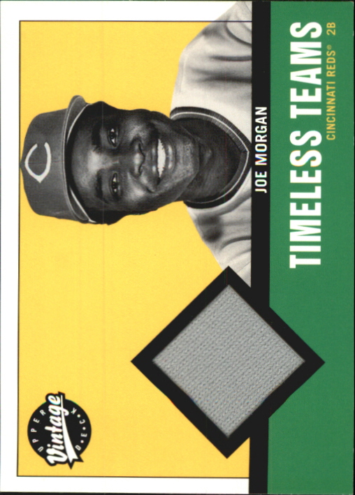 2001 Upper Deck Vintage Timeless Teams #CIJM Joe Morgan Jsy