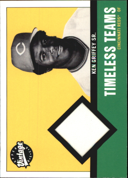 2001 Upper Deck Vintage Timeless Teams #CIKG Ken Griffey Sr. Jsy