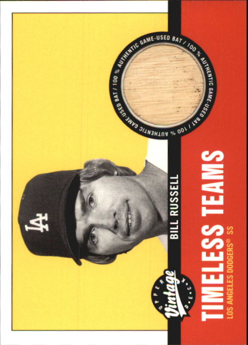 2001 Upper Deck Vintage Timeless Teams #LABR Bill Russell Bat