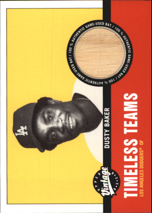 2001 Upper Deck Vintage Timeless Teams #LADB Dusty Baker Bat
