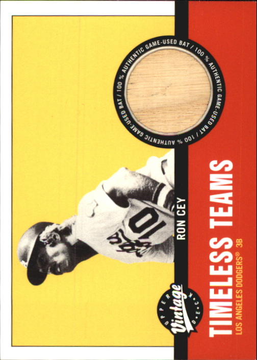 2001 Upper Deck Vintage Timeless Teams #LARC Ron Cey Bat