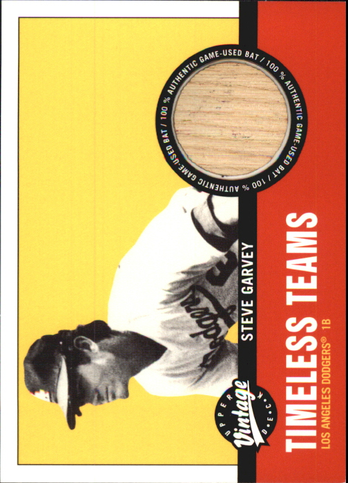 2001 Upper Deck Vintage Timeless Teams #LASG Steve Garvey Bat