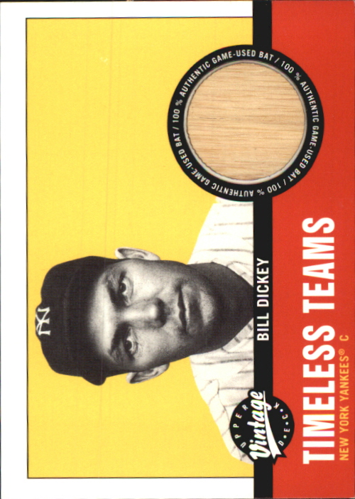 2001 Upper Deck Vintage Timeless Teams #NYYBD Bill Dickey Bat