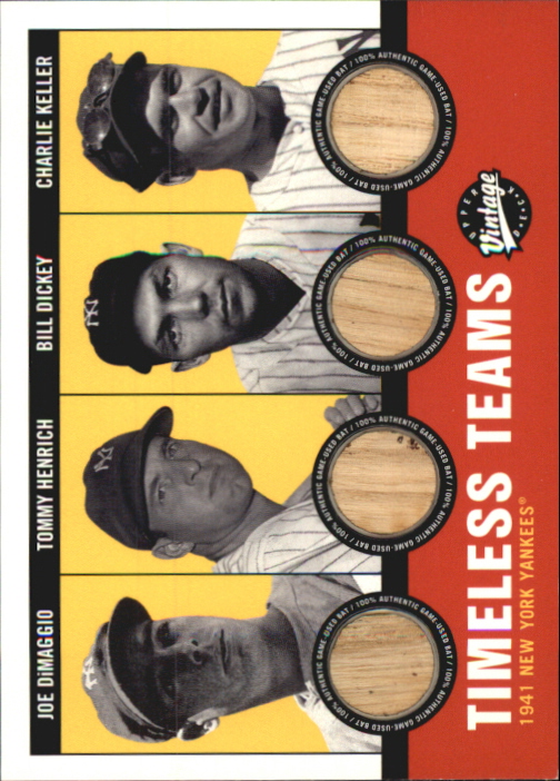 2001 Upper Deck Vintage Timeless Teams Combos #NYY41 1941 Yankees