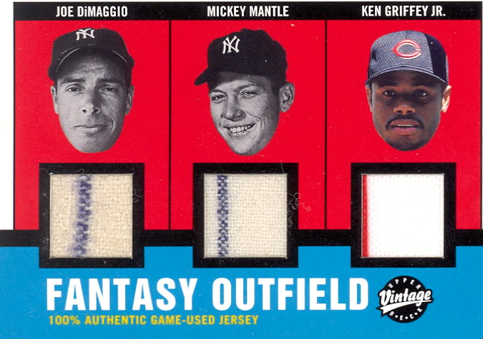 2001 Upper Deck Vintage Timeless Teams Combos #FOCJ Fantasy Outfield/25