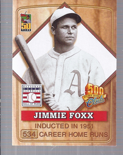 2001 Post 500 Club #3 Jimmie Foxx