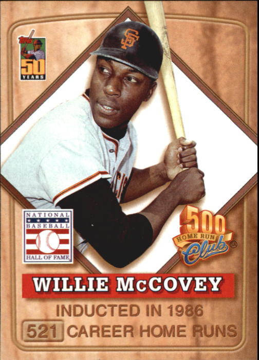 2001 Post 500 Club #4 Willie McCovey