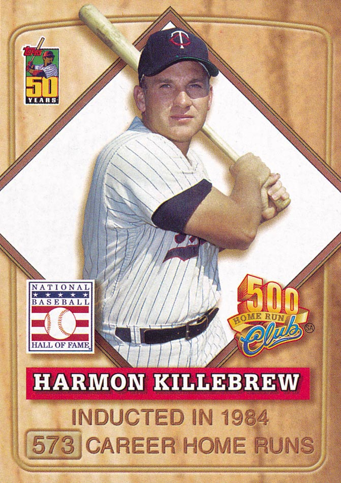 2001 Post 500 Club #6 Harmon Killebrew