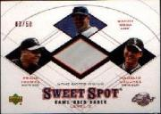 2001 Sweet Spot Game Base Trios #STO Sosa/Thomas/Ordonez