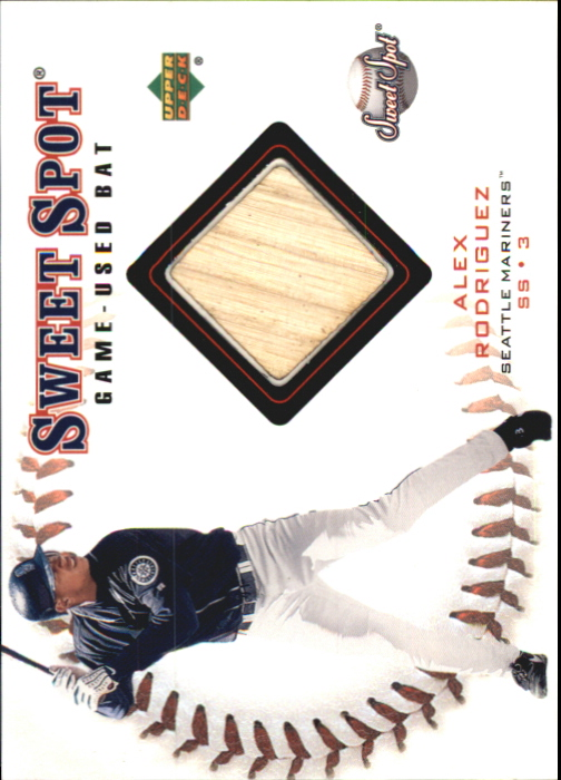 2001 Sweet Spot Game Bat #BAR Alex Rodriguez