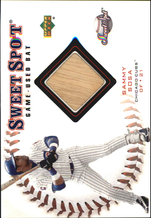 2001 Sweet Spot Game Bat #BSS Sammy Sosa