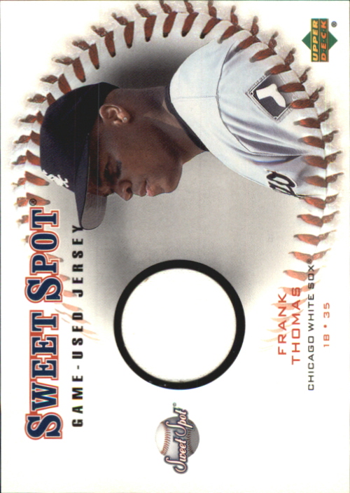2001 Sweet Spot Game Jersey #JFT Frank Thomas