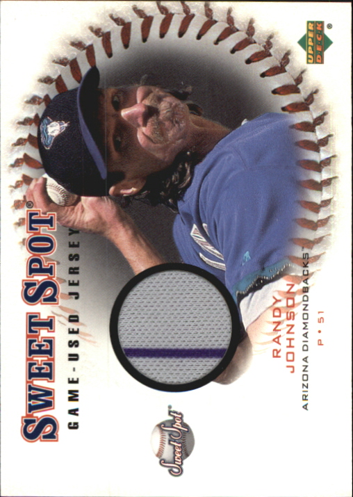 2001 Sweet Spot Game Jersey #JRJ Randy Johnson
