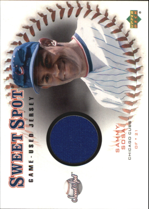 2001 Sweet Spot Game Jersey #JSS Sammy Sosa