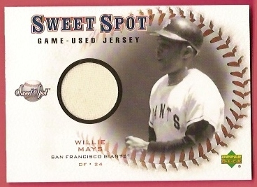 2001 Sweet Spot Game Jersey #JWM Willie Mays