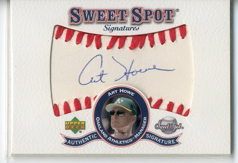 2001 Sweet Spot Signatures #SAH Art Howe