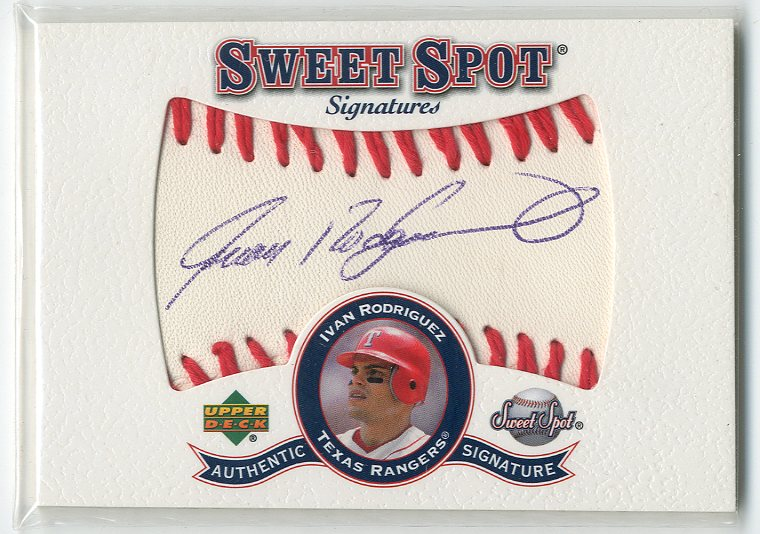 2001 Sweet Spot Signatures #SIR Ivan Rodriguez SP/150