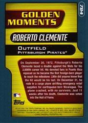 2001 Topps #784 Roberto Clemente GM back image