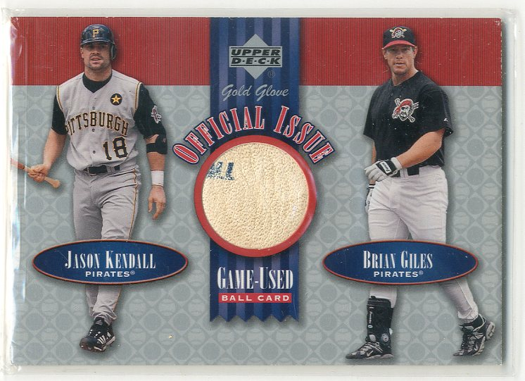 2001 Upper Deck Gold Glove Official Issue Game Ball #OIKG Jason Kendall/Brian Giles