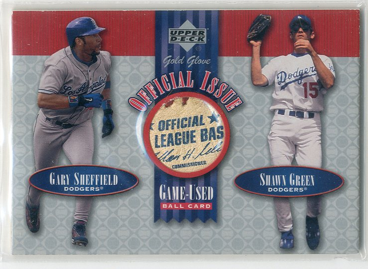 2001 Upper Deck Gold Glove Official Issue Game Ball #OISG Gary Sheffield/Shawn Green