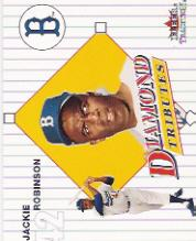 2001 Fleer Tradition Diamond Tributes #DT1 Jackie Robinson front image