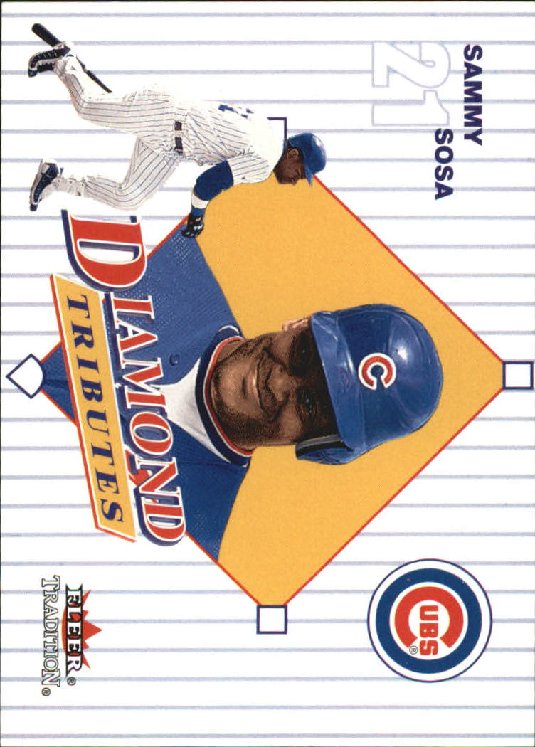 2001 Fleer Tradition Diamond Tributes #DT21 Sammy Sosa