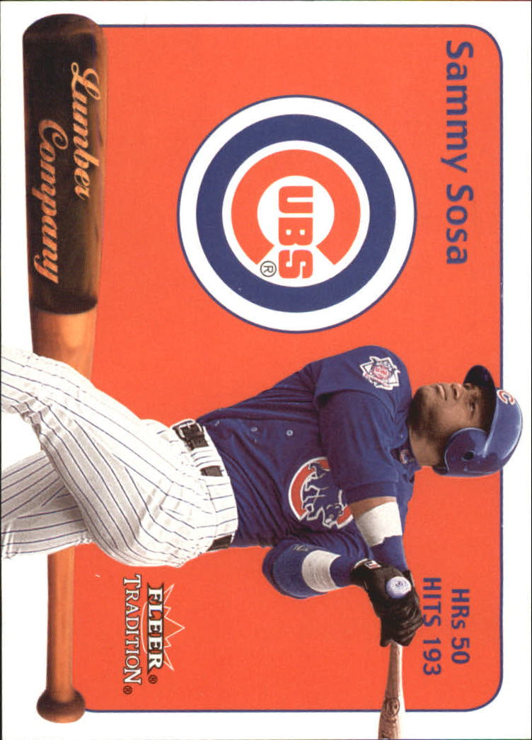 2001 Fleer Tradition Lumber Company #LC19 Sammy Sosa