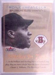 2001 Fleer Tradition Stitches in Time #ST5 Roy Campanella