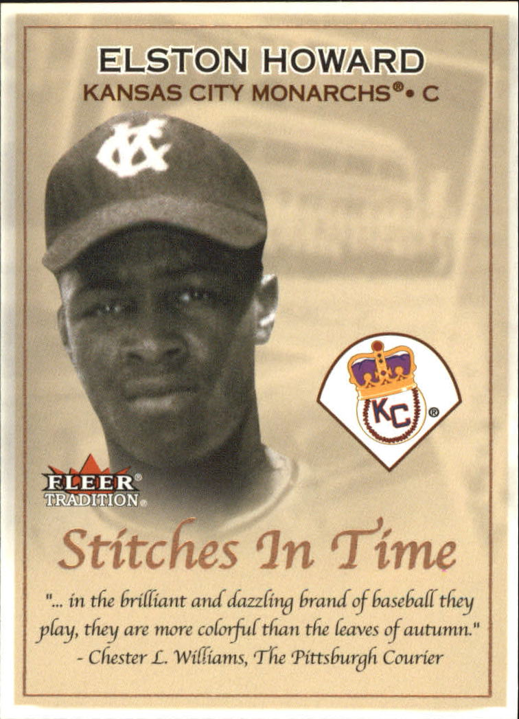 2001 Fleer Tradition Stitches in Time #ST10 Elston Howard