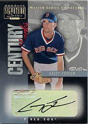 2001 Donruss Signature Century Marks Masters Series #16 Casey Fossum