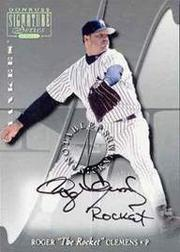2001 Donruss Signature Notable Nicknames #4 Roger Clemens SP/50