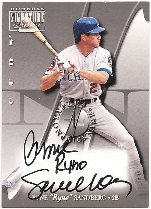 2001 Donruss Signature Notable Nicknames #15 Ryne Sandberg
