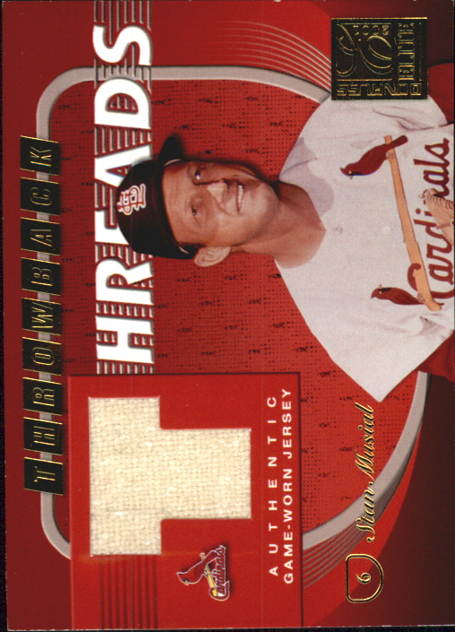 2001 Donruss Elite Throwback Threads #TT1 Stan Musial SP/75