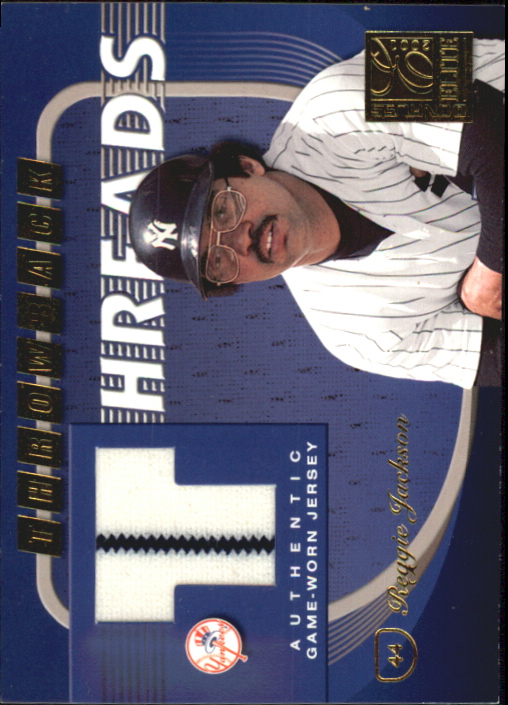 2001 Donruss Elite Throwback Threads #TT44 Reggie Jackson/Dave Winfield