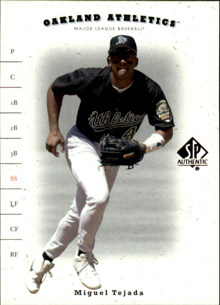 2001 SP Authentic #6 Miguel Tejada