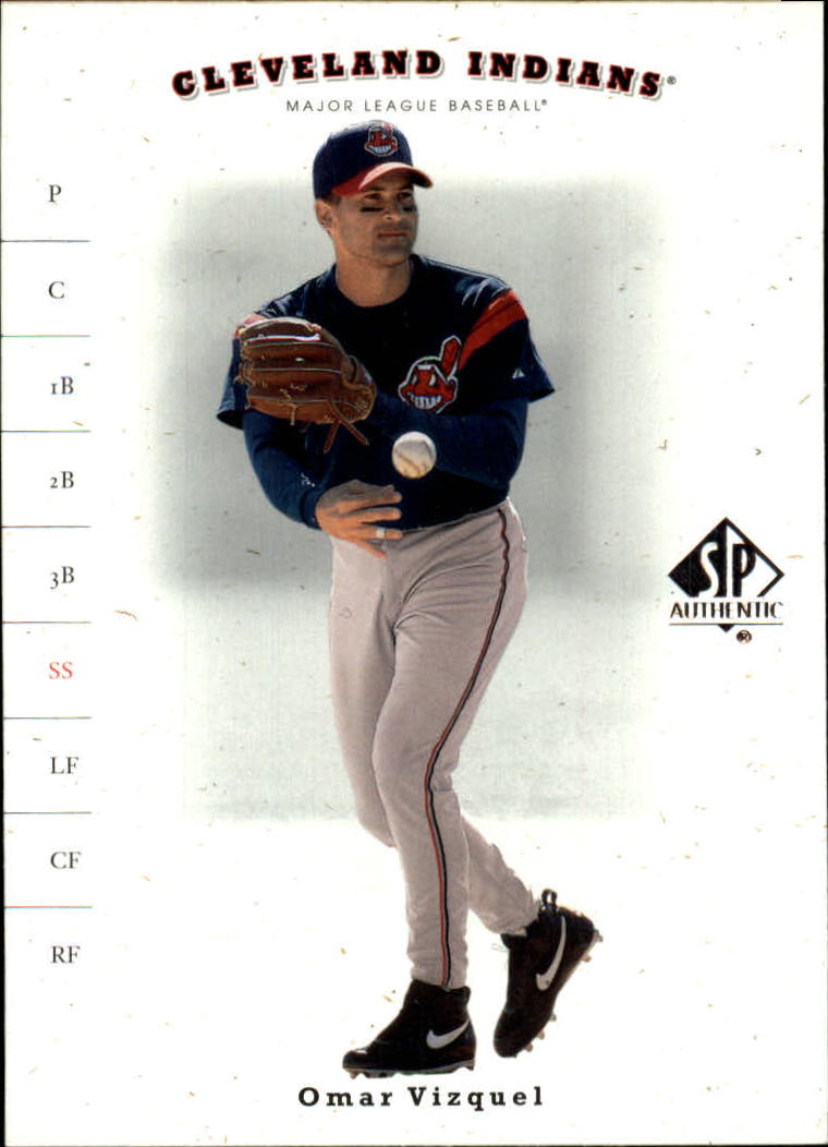 2001 SP Authentic #16 Omar Vizquel