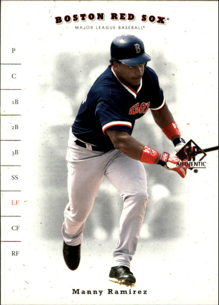 2001 SP Authentic #23 Manny Ramirez Sox