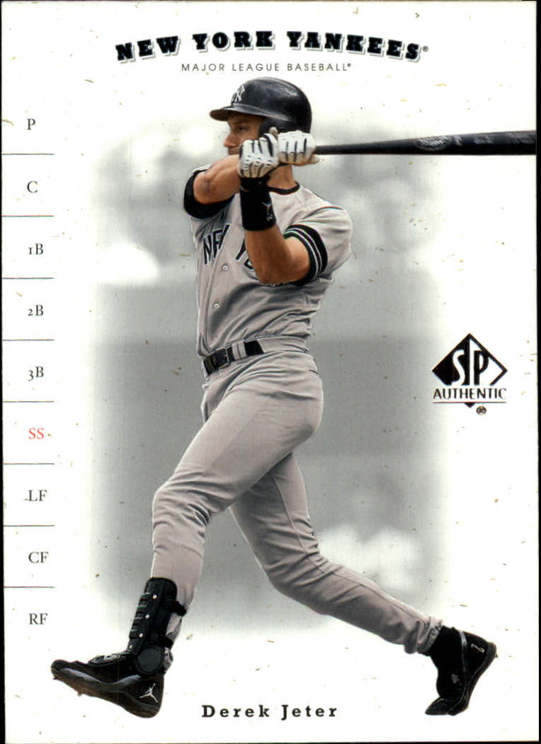2001 SP Authentic #36 Derek Jeter